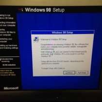 TBT: Installing Windows 98, 16 Years later