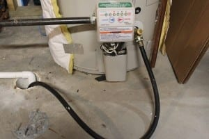 Drain the water heater tank