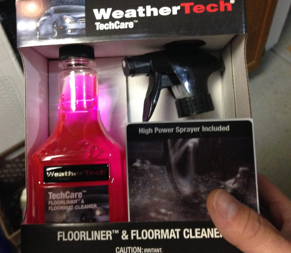 Weathertech mats cleaner -
